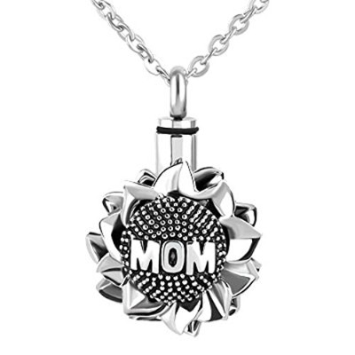 jewelryhouse Mom Dad Forever Love You Urnネックレスfor灰Memorial Cremationクロスペンダント