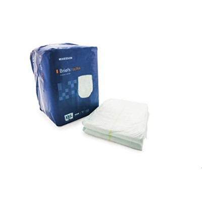 MCKESSON Incontinent Brief McKesson Tab Closure 2X-Large Disposable Heavy Absorbency (#BRULXXL,...