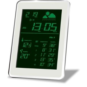 HOUSE USE PRODUCTS(ハウスユ-ズプロダクツ) LCD表示 電波置き掛け時計 AIR-CONDITION-CLOCK Dayton GREEN ACL079 AA-21769