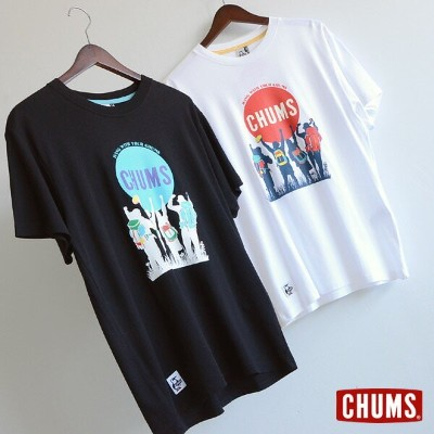 CHUMS Trekking With Friends T-Shirt ■CH01-1216【メンズ トップス Tシャツ 半袖 カットソー チャムス 】■1000833