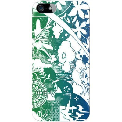 【送料無料】 kion 「dree green indigo」 / for iPhone SE/5s/SoftBank 【SECOND SKIN】【スマホケース】【ハードケース】iPhone5sカバー...