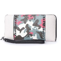 ゲス GUESS GABI LARGE ZIP AROUND WALLET (STONE MULTI) レディース