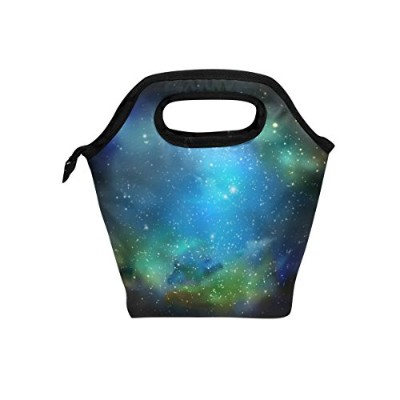 JSTeL Universe Galaxy Space Stars LunchバッグTote Handbag Lunchbox Foodコンテナグルメ弁当CooleトートCooler...