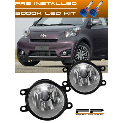 USフォグライト LED 2012-2015 Scion iQ Clear Lens Replacement Fog Light Housing Left and Right LED 2012...