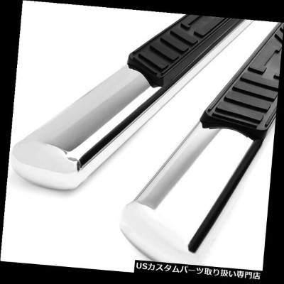 """FOR 04-08 FORD F150 EXT//SUPER CAB 5/"""" BLACK OVAL SIDE STEP NERF BAR RUNNING BOARD"""