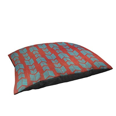 Manual Woodworkers & Weavers Fleece Top Large Breed Pet Bed Featherwood Turquoise Red [並行輸入品]