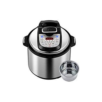 GTime Pressure Cooker、プログラム可能な12- in - 1多機能6Qt高圧力炊飯器と低圧力モードのデュアルnuclei withステンレススチールインナーポット、ガラス蓋...