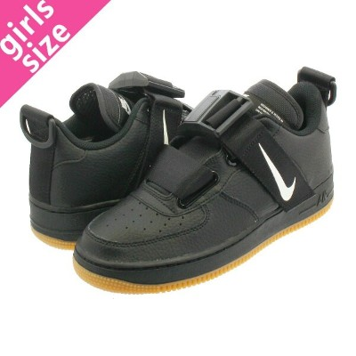 【大人気の女の子サイズ♪】 NIKE AIR FORCE 1 UTILITY GS ナイキ エア フォース 1 UTILITY GS BLACK/WHITE/GUM MED BROWN aj6601...