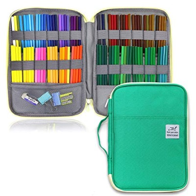 YOUSHARES 鉛筆ケース 96スロット グリーン MPN_Pencil_Case_A96_GN