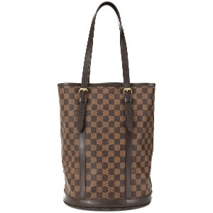 Louis Vuitton Pre-Owned GM Damier バケットバッグ - ブラウン
