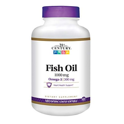 21st Century Health Care, Fish Oil, 1000 mg, 180 Enteric Coated Softgels