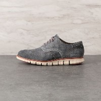 SALE【バイヤーズコレクション(BUYER'S COLLECTION)】 【COLE HAAN】ZEROGRAND WINGTIP OXFORD LEATHER グレー系