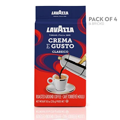 Lavazza Crema e Gusto - Ground Coffee, 8.8-Ounce Bricks (Pack of 4) by Lavazza