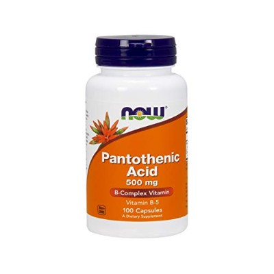 [海外直送品] ナウフーズ  Pantothenic Acid 100 Capsules / 500mg (Pack of 2)