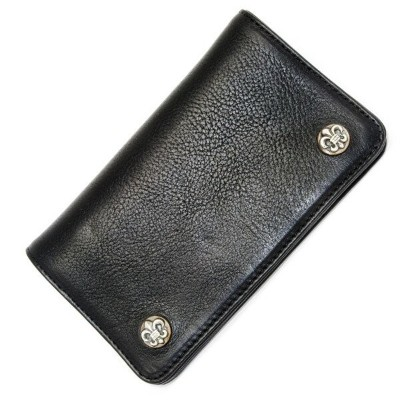 CHROME HEARTS(クロムハーツ)1 ZIP BK Heavy Leather /BS Fleur Buttons l chromehearts 正規品 送料無料 誕生日 プレゼント ギフト...