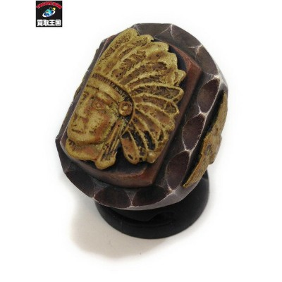 TOFUMI MEXICAN RING INDIAN HEAD [#16] WARP AND WOOF メキシカン【中古】[▼]