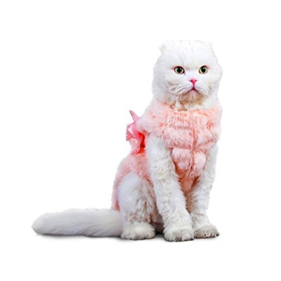 PLS Pet Halloween Faux Fur Pet Coat, Winter Dog Coat, Dog Jacket, Dog Costume, Cat Costume, for...