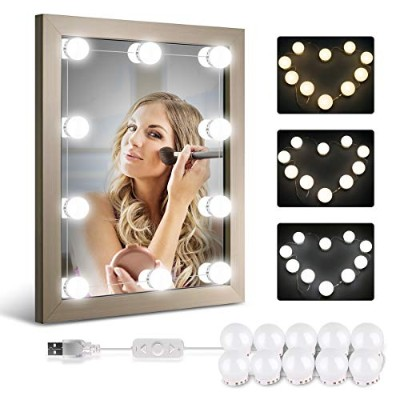 Homeasy Hollywood Style LED Vanity Mirror Lights Kit with 10 Dimmable Bulbs, Vanity LED Strip Light...