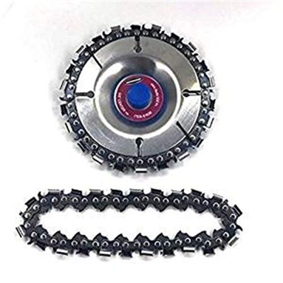 SakuraBest 4 Inch Wood Carving Disc and Chain For 100/115mm Angle Grinder 22 Tooth
