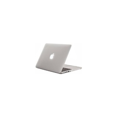 "Kuzy - Retina 13-Inch FROST WHITE/CLEAR ゴム引きハードケース for MacBook Pro 13.3"" with Retina Display A1502 ..."
