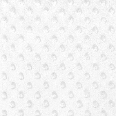 White Minky Dot Fabric - by the Yard by Online Fabric Store