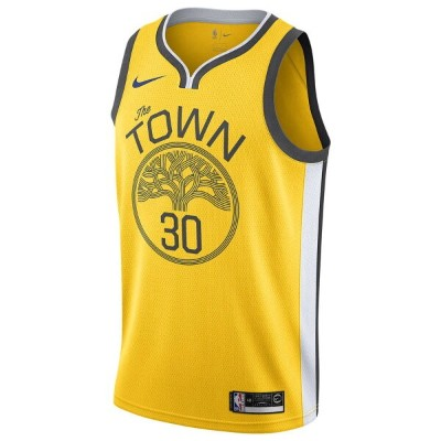 ナイキ Nike メンズ バスケットボール トップス【NBA City Edition Swingman Jersey】NBA Golden State Warriors Stephen Curry...