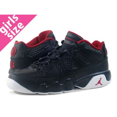 NIKE AIR JORDAN 9 RETRO LOW BG ナイキ エアー ジョーダン 9 レトロ ロー BG BLACK/GYM RED/WHITE