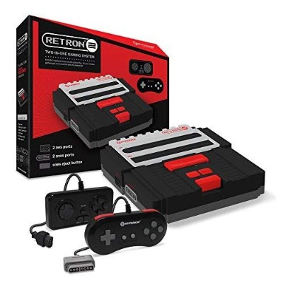 【Hyperkin】 RetroN 2 レトロン2 TWO IN ONE 2in1 Gaming System for NES/SNES/ Black スーパーファミコン互換
