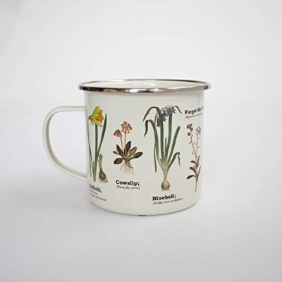 Gift Republic Wild Flower Enamel Mug, Multicolor by Gift Republic