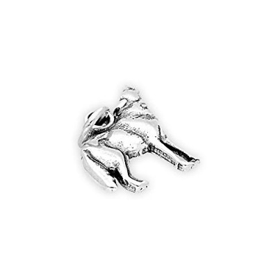 TheCharmWorks Sterling Silver Howling Wolf Charm