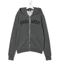 Dsquared2 Kids ロゴ ジップアップパーカー - グレー
