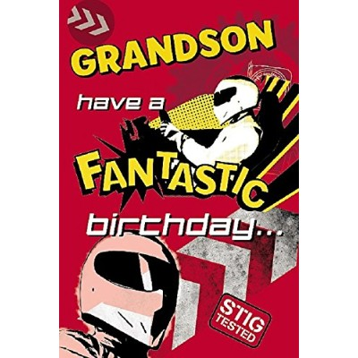 Top Gear The Stig Grandson 3D Holographic Birthday Greeting Card Age New Gift by Shop Inc