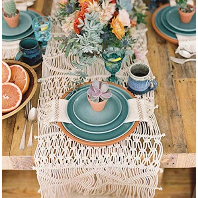 Macrame Table Runners Handwoven Boho Wedding Table Decoration Bedding Blanket,35cm x 270cm