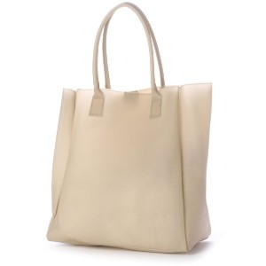 【SALE 50%OFF】ヒッチハイクマーケット HITCH HIKE MARKET smooth vinyl tote (アイボリー) レディース