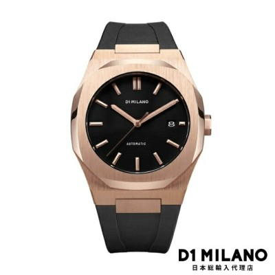 D1ミラノ 日本総輸入代理店 腕時計 メンズ 時計 D1 MILANO P701 Automatic Watch Rose Gold Case with Black Strap