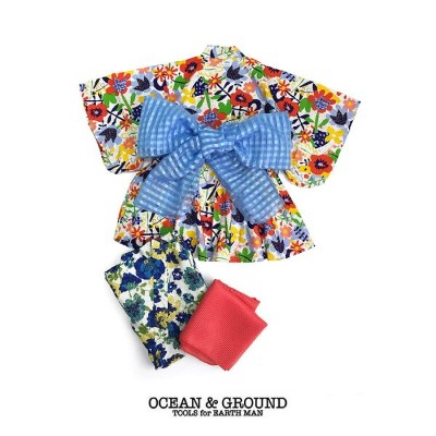 Ocean&Ground/オーシャンアンドグラウンド 浴衣ワンピース 女児 FLORAL&BLOOMING レッド