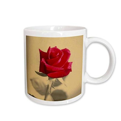 (330ml) - 3dRose Vintage Rose Rose, Roses, Red, Love, Heart, Romantic, Valentine Ceramic Mug, 330ml
