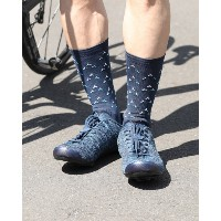 GIRO(ジロ) サイクルソックス【COMP HIGH RISE MIDNIGHT BLUE TURBINES】