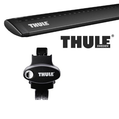THULE スーリー JEEP グランドチェロキー ルーフレール付 WH47/WH57 05〜 ルーフキャリア取付1台分セット TH775+TH7114Bセット