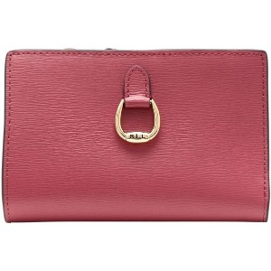 レディース LAUREN RALPH LAUREN COMPACT LEATHER WALLET 財布  コーラル