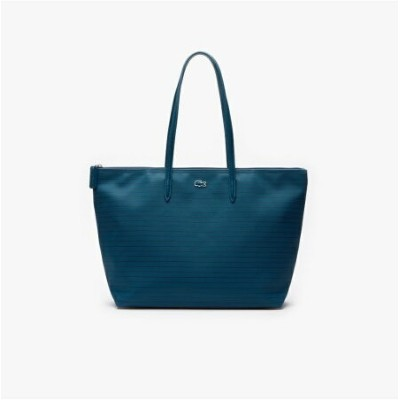 【SALE/30%OFF】LACOSTE L.12.12 CONCEPT FANTAISIE ピンボーダートートバッグ ラコステ バッグ トートバッグ ブルー ピンク【送料無料】