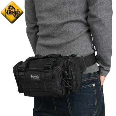 【20%OFFセール開催中】メンズ ミリタリー バッグ / MAGFORCE マグフォース MF-0402 Proteus Waistpack Black ミリタリーバッグ 【ウエストバッグ】《WIP》 ミリタリー 男性 旅行 ギフト プレゼント