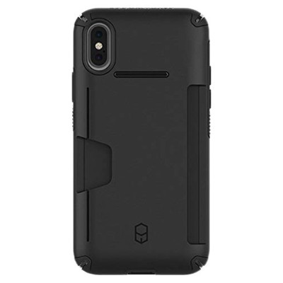 PATCHWORKS LEVEL WALLET iPhone XS/X ケース カード収納 [ブラック]