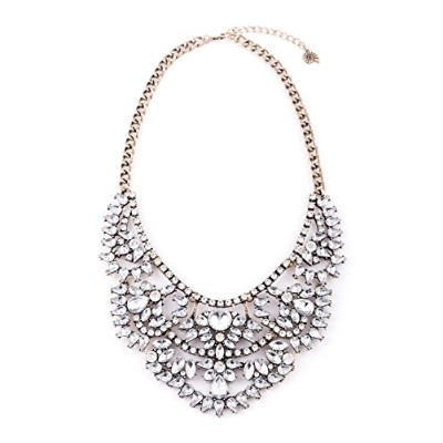 Happiness Boutique Women Vintage Statement Necklace XXL Oversized Wedding Necklace in Gold nickel...