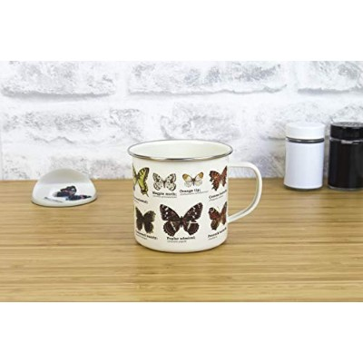 Gift Republic GR270100 Butterflies Enamel Mug, Multicolor by Gift Republic