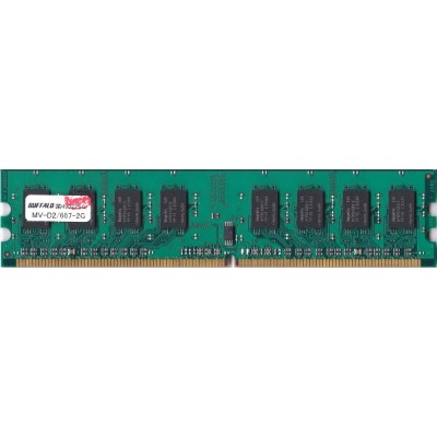 BUFFALO PC2-5300U (DDR2-667) 2GB MV-D2/667-2G 動作保証品 【中古】