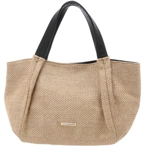 【SALE 58%OFF】グリーンパークス Green Parks タックトートバッグ (Beige) レディース