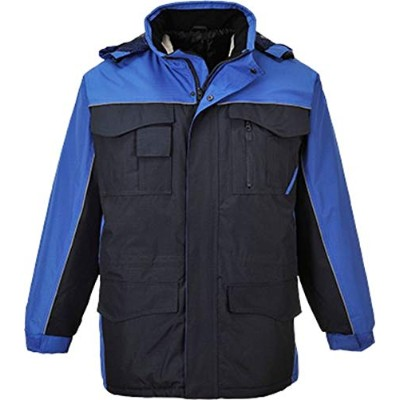 Portwest US562 Small Ripstop Parka Jacket, Navy & Royal Blue - Regular