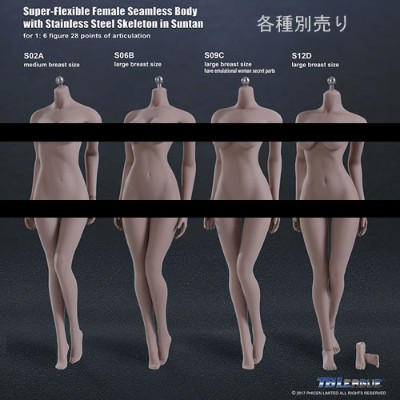 【TBLeague】female seamless body SUNTAN series not head S02A S06B S09C S12D TBリーグ 1/6スケール シームレス女性ボディ...
