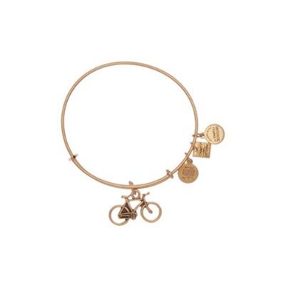 Alex and Ani Charity By Design バイクチャーム 拡張可能なワイヤーブレスレット